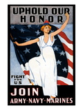 Uphold Our Honor, Join Army, Navy, Marines Wall Decal