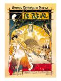 Le rève Autocollant mural par Théophile Alexandre Steinlen