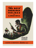 Boys' Sherlock Holmes Wall Decal by Charles Livingston Bull