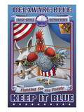 Delaware Blue, Fighting for the People Wall Decal by Richard Kelly