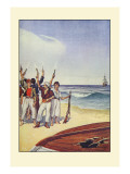 Robinson Crusoe: Then They Came and Fired Small Arms Wall Decal by Milo Winter