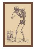 Bending Skeleton Wall Decal by Andreas Vesalius