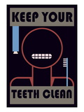 Keep Your Teeth Clean Mode (wallstickers)