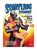 Startling Stories: Robot Seizes Woman Wall Decal