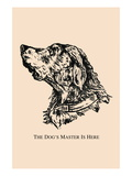 Optical Illusion Puzzle: The Dog's Master is Here Wall Decal