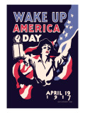 Wake Up America Day Wall Decal by James Montgomery Flagg