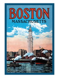 Boston Massachusetts Wall Decal
