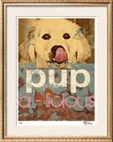 Pup-A-Liscious Limited Edition Framed Print by M.J. Lew