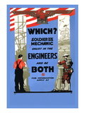 Be a Solider or a Mechanic, Join the Engineers Wall Decal