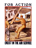 For Action, Enlist in the Air Service Wall Decal by Otho Cushing