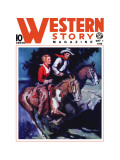 Western Story Magazine: On the Range Wall Decal