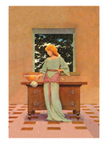 Violetta Wall Decal by Maxfield Parrish