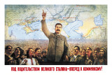 Understanding the Leadership of Stalin, Come Forward with Communism Wall Decal by Boris Berezovskii