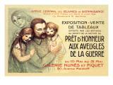 Pret d'Honneur aux Aveugles de la Guerre, c.1917 Autocollant mural par Théophile Alexandre Steinlen