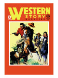 Western Story Magazine: On the Move Wall Decal