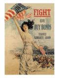 FIGHT! or Buy Bonds: Third Liberty Loan Vinilos decorativos por Howard Chandler Christy