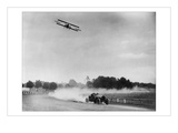 The Airplane Races the Automobile Wallstickers
