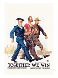 Together We Win Wall Decal by James Montgomery Flagg