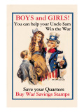 Uncle Sam, Boys and Girls, c.1918 Wall Decal by James Montgomery Flagg