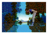 Knave and Frog Wall Decal by Maxfield Parrish