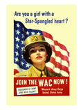 Are You a Girl with a Star Spangled Heart Join the Wac Now! Wall Decal by Bradshaw Crandell