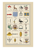 Heraldic Symbols: Banner and Cameleopard Wall Decal by Hugh Clark