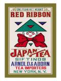 Red Ribbon Brand Tea Wandtattoo