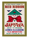 Red Ribbon Brand Tea Wall Decal