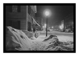 Snowy Night in Woodstock, Vermont Wallstickers af Marion Post Wolcott