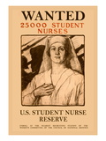 Wanted 25,000 Student Nurses Wall Decal by Milton Bancroft