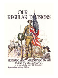 Our Regular Divisions, Enlist for the Infantry Wall Decal by James Montgomery Flagg