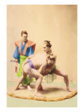 Sumo Wrestlers Wall Decal