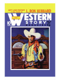 Western Story Magazine: Hot Lead Payoff Wall Decal