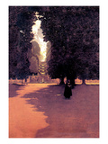 Quiet Scene Wall Decal by Maxfield Parrish