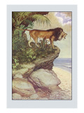 Robinson Crusoe: The Most Hideous Roar Wall Decal by Milo Winter