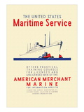 American Mechant Marine, c.1937 Wall Decal by Richard Halls