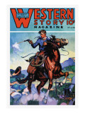 Western Story Magazine: Gunning 'Em Down Wall Decal
