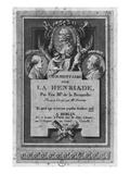 Frontispiece of the Commentary by De La Beaumelle of 'La Henriade' by Voltaire Reproduction procédé giclée par Augustin De Saint-aubin