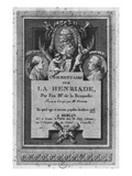 Frontispiece of the Commentary by De La Beaumelle of 'La Henriade' by Voltaire Giclee Print by Augustin De Saint-aubin