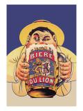 Biere du Lion Wallstickers af Eugene Oge