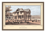 Iowa Building, Centennial International Exhibition, 1876 Wall Decal by Thompson Westcott