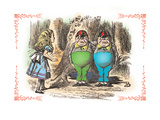 Through the Looking Glass: Tweedledum and Tweedledee Wall Decal by John Tenniel