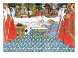 Feast Vinilo decorativo por Ivan Bilibin