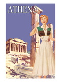 Athens 50's Fashion Tour II Wall Decal