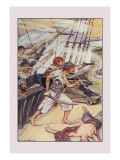 Robinson Crusoe: Our Ship Being Disabled Wall Decal by Milo Winter