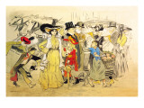Le Boulevard, c.1900 Wall Decal by Théophile Alexandre Steinlen