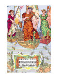 I Saw Three Ships, c.1885 Wall Decal by Walter Crane