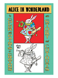 Alice in Wonderland: The White Rabbit Wall Decal by John Tenniel