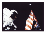 Schmitt, Flag, and Earth Wall Decal
