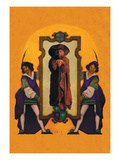 Knaves and Wizard Wall Decal by Maxfield Parrish